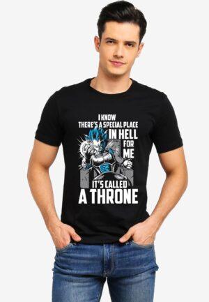 Buy vegeta throne black tshirt only on 9tails apparels